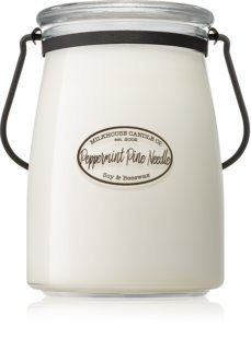 Milkhouse Candle Co. Creamery Peppermint Pine Needle illatos gyertya  Butter Jar