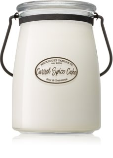 Milkhouse Candle Co. Creamery Carrot Spice Cake scented candle Butter Jar