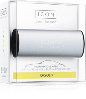 Millefiori Icon Oxygen car air freshener Metallo Matt Blue