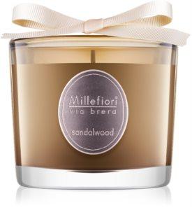 Millefiori Via Brera Sandalwood lumânare parfumată