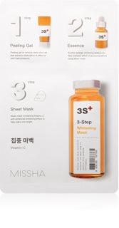 Missha 3-Step posvetlitvena maska v treh korakih