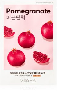 Missha Airy Fit Pomegranate Softening and Refreshing Cloth Face Mask