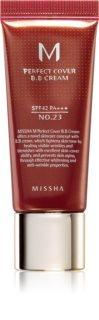 Missha M Perfect Cover BB krema z zelo visoko UV zaščito majhno pakiranje