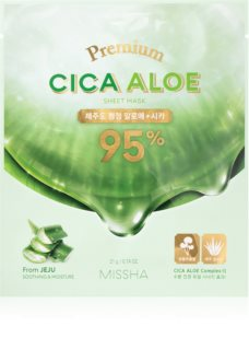 Missha Premium Cica Aloe Refreshing and Purifying Sheet Mask With Aloe Vera