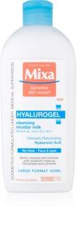 MIXA Hyalurogel lait nettoyant visage pour peaux sèches à très sèches