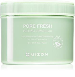 Mizon Pore Fresh Eksfolierende bomuldspads Til sensitiv hud med tendens til akne