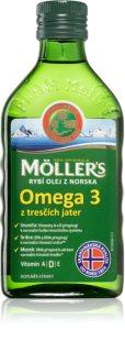 Möller's Omega 3 Natur olej doplněk stravy na podporu imunity, zdravého pohybového aparátu a nervové soustavy