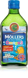 Möller's Omega 3 Ovocná příchuť doplněk stravy pro normální růst a vývoj dětí a na podporu jejich imunity