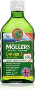 Möller's Omega 3 50+ doplněk stravy pro zdravé kosti a zuby, podporu imunity a správnou činnost srdce