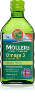 Möller's Omega 3 jablko doplněk stravy pro zdravý vývoj kostí a nervové soustavy dětí
