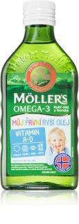 Möller's Omega 3 Můj první rybí olej doplněk stravy pro podporu imunity dětí a zdravý růst