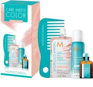 Moroccanoil Care Meets Color καλλυντικό σετ Rose Gold (για ξανθά και με ανταύγειες μαλλιά)