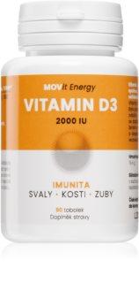 Movit Energy Vitamin D3 2000 I. U. 50mcg doplněk stravy pro podporu vstřebávání vápníku a pro zdravé kosti a svaly