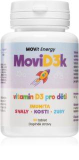 Movit Energy MoviD3k doplněk stravy pro správný vývoj dětského organismu a podporu jeho obranyschopnosti