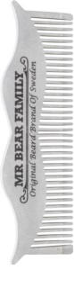 Mr Bear Family Grooming Tools peigne à barbe en acier