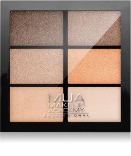MUA Makeup Academy Professional 6 Shade Palette paleta cieni do powiek