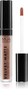 MUA Makeup Academy Velvet Matte matná tekutá rtěnka