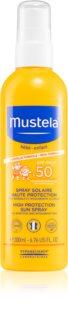 Mustela Bébé spray dla dzieci do opalania SPF 50