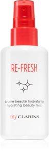 My Clarins Re-Fresh ceață de piele hidratantă și energizantă pentru corp