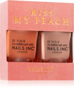 Nails Inc. Kiss my peach výhodné balení (na nehty)