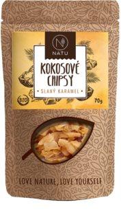 NATU Kokosové chipsy slaný karamel