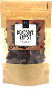 NATU Kokosové chipsy kakao kokosové chipsy v BIO kvalitě