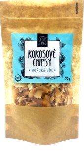 NATU Kokosové chipsy mořská sůl kokosové chipsy v BIO kvalitě