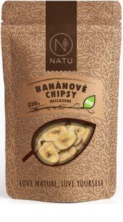 NATU Banánové chipsy neslazené BIO sušené ovoce neproslazované