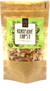 NATU Kokosové chipsy pražené kokosové chipsy v BIO kvalitě