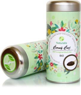 Naturalis Černý čaj 100 % Original bio sypaný čaj s kofeinem s nasládlou chutí s tóny zralé švestky