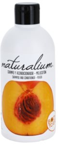 Naturalium Fruit Pleasure Peach champú y acondicionador