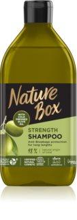 Nature Box Olive Oil Skyddande schampo  För att behandla bräckligt hår
