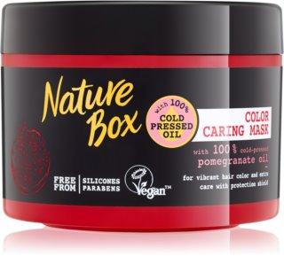Nature Box Pomegranate nährende und feuchtigkeitsspendende Maske für die Haare zum Schutz der Farbe