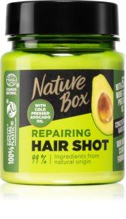 Nature Box Avocado Hair Shot intenzívna regeneračná maska s avokádom