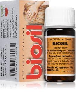 NATURVITA Biosil doplněk stravy  k udržování normálního stavu vlasů, pokožky a sliznic