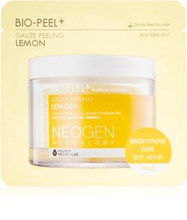 Neogen Dermalogy Bio-Peel+ Gauze Peeling Lemon peelingové pleťové tamponky pro rozjasnění a vyhlazení pleti