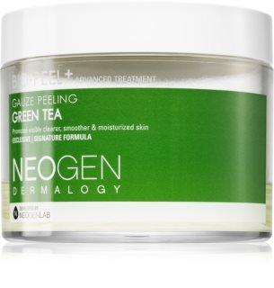 Neogen Dermalogy Bio-Peel+ Gauze Peeling Green Tea Eksfolierende bomuldspads Til udstråling og fugtighed