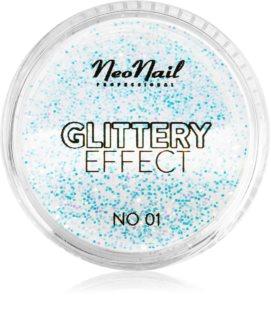 NeoNail Glittery Effect No. 01 Skimrande puder för naglar