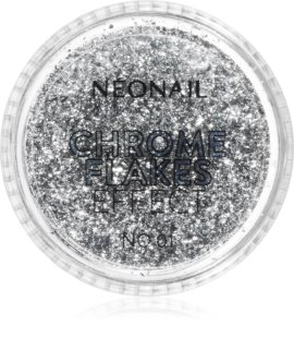 NeoNail Chrome Flakes Effect No. 1 Skimrande puder för naglar