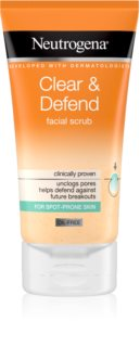 Neutrogena Clear & Defend gommage lissant visage
