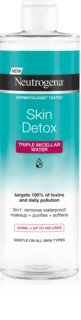 Neutrogena Skin Detox Reinigende Micellair Water voor Waterproef Make-up
