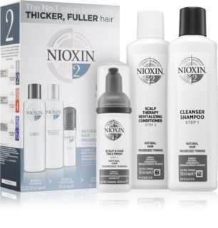 Nioxin System 2 Natural Hair Progressed Thinning kozmetika szett III. unisex