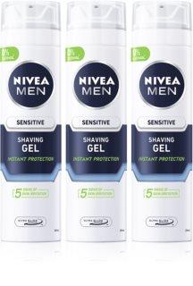 Nivea Men Sensitive gel de barbear (formato poupança)
