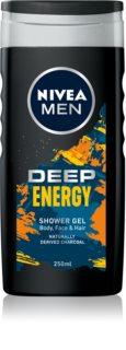 Nivea Men Energy Energigivande duschgel för ansikte, kropp och hår