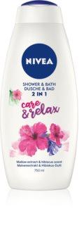 Nivea Care & Relax espuma de baño y gel de ducha 2 en 1 maxi
