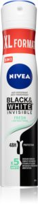 Nivea Black & White Invisible  Fresh + Antibacterial antitranspirante en spray 5 en 1