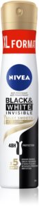 Nivea Black & White Invisible  Silky Smooth antitranspirante en spray