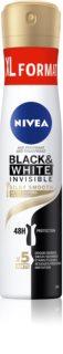 Nivea Black & White Invisible  Silky Smooth spray anti-transpirant