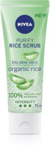 Nivea Rice Scrub Aloe Vera exfoliante facial limpiador