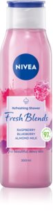 Nivea Fresh Blends Raspberry & Blueberry & Almond Milk gel de duche refrescante